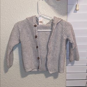 Gray and White Children's Cardigans
